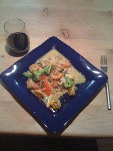 Shrimp and Veggie Curry Photo